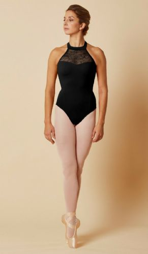 Mirella by Bloch Ladies/Tween Dance Lace Bodice Halter Neck Leotard M8024 Black